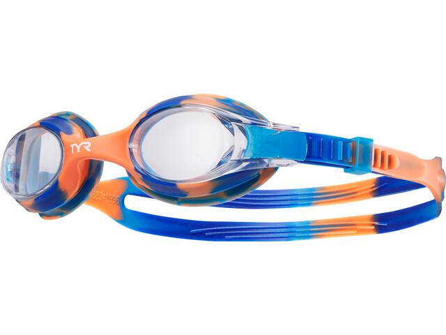 TYR Swimple Tie Dye Lunettes de protection Enfant, blue/orange